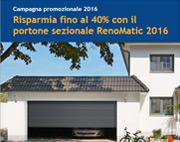 Risparmia fino al 40% con il portone RenoMatic Hormann