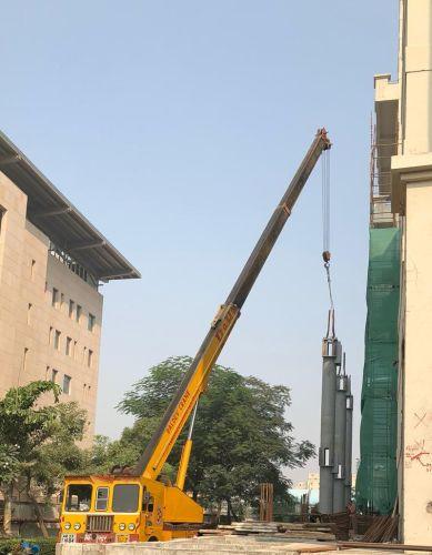 Sistema NPS di Tecnostrutture per  la realizzazione di 10 nuovi piani di un albergo a New Delhi