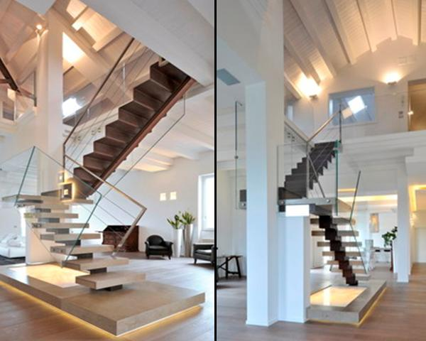 Scale di design in marmo margraf - Scale moderne in marmo ...