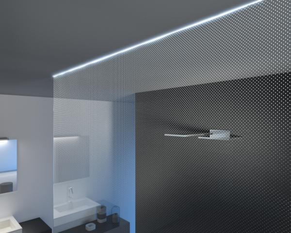 Punto n cristalli schermo doccia effetto luce - Illuminazione doccia con led ...