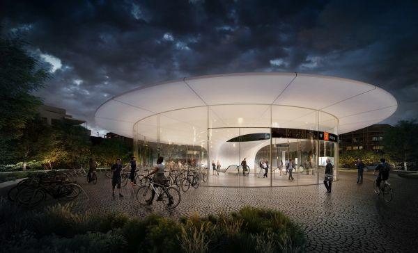 Oslo na nuopva stazione della Metro Fornbuporten Station by Zaha Hadid Architects