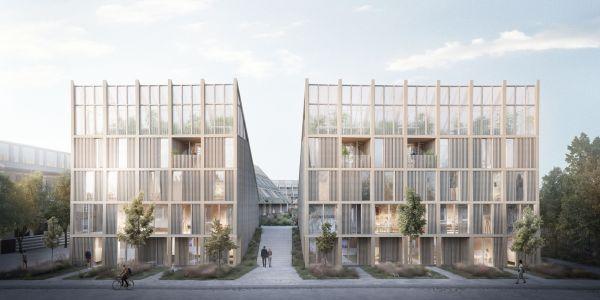 Il complesso edilizio di Gladsaxe vicino a Copenhagen (credits Tredje Natur)