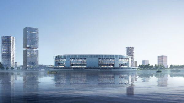 Render del nuovo stadio del Feyenoord (courtesy OMA)