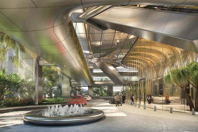Ingresso 2 Murray Road, Progetto di Zaha Hadid Architects a Hong Kong