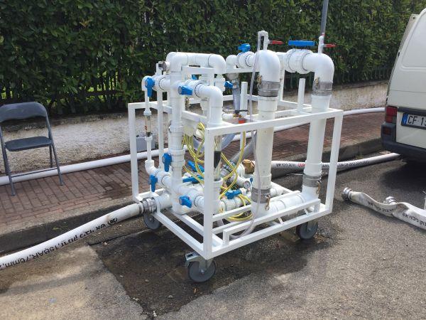 Il LB Launcher, l'apparecchiatura che serve a immettere il Pig Train nella tubazione
