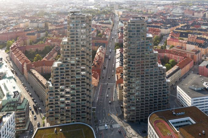 I due edifici di Norra Tornen a Stoccolma