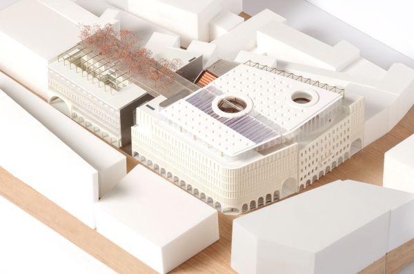 Modello del complesso KaDeWe a Vienna - The Link