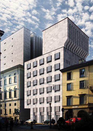 Ampliamento Teatro alla Scala di Milano - Render facciata via Verdi