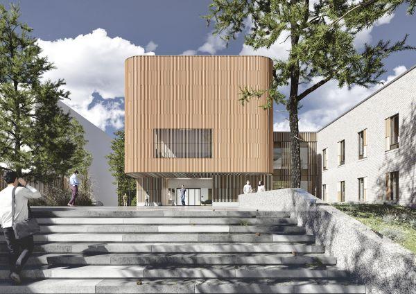 L'ingresso principale della clinica psichiatrica di Tampere