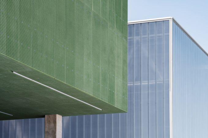 Le facciate dei due edifici del Meett di Tolosa