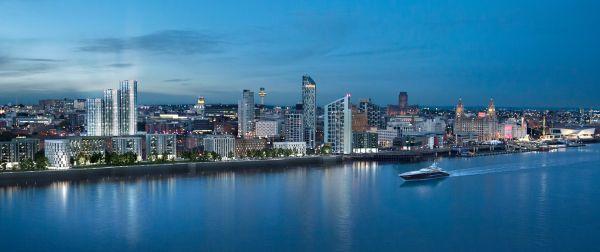 Il complesso delle tre torri Infinity in via di costruzione a Liverpool