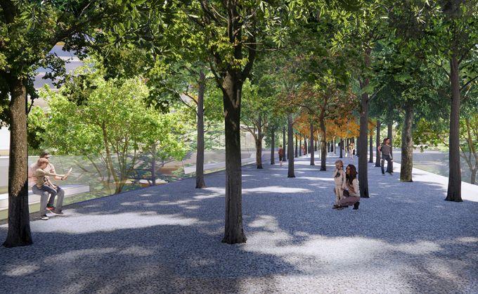 Riqualificazione Scalo porta romana con al centro il grande parco