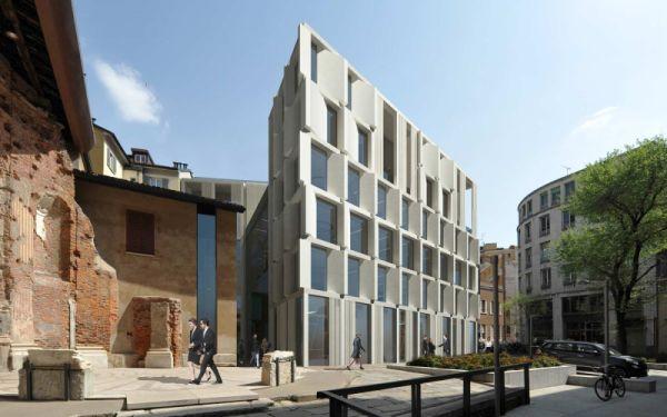 Rendering Progetto vincitore edificio via delle Orsole a Milano