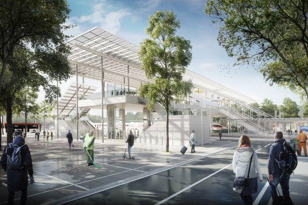 Render della nuova stazione ferroviaria di Sesto San Giovanni che è anche un ponte