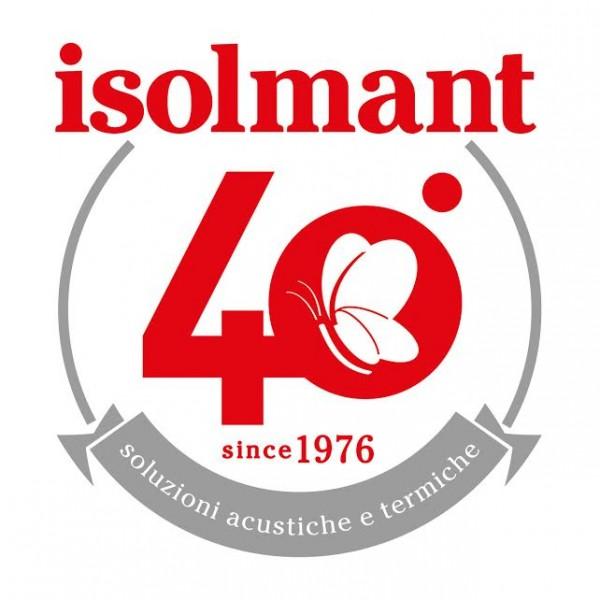 Logo, 40 anni di Isolmant, azienda che opera nell'Isolamento acustico