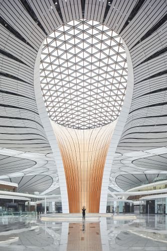 Gli interni del Beijing Daxing International Airport