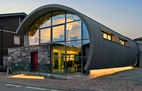 Studio di architettura con copertura in zinco titanio vmzinc - Finestre a nastro ...