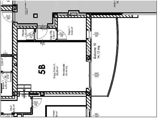 Fig. 2 – soggiorno dell'appartamento coinvolto nella misura