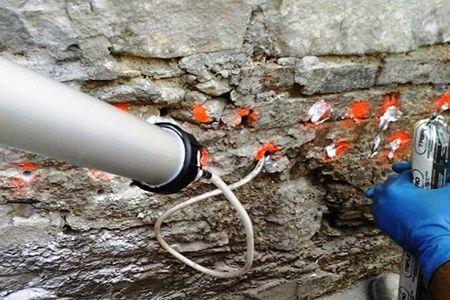 Iniezioni di TRIPLEZERO di Volteco per risolvere i problemi di umidità