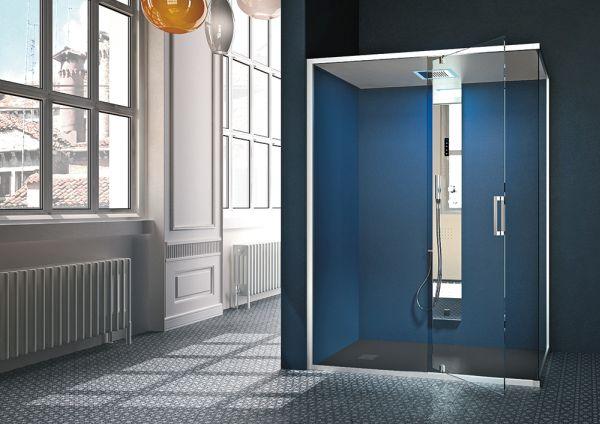 G-Steam, la nuova colonna doccia con generatore di vapore di Hafro Geromin
