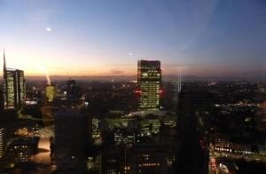 Vista dal 31° piano del Grattacielo Pirelli, location della premiazione