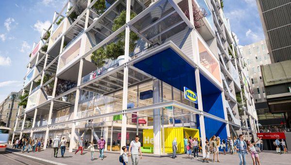 Ai piani superiori dello store Ikea su Mariahilferstrasse è previsto un ostello (credits querkraft architekten)