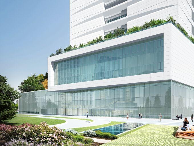 Nuovo ospedale Galeazzi, La piastra di base