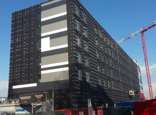 La fase finale di realizzazione del Moxy Hotel di Linate