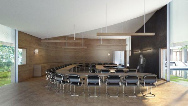 La sala riunioni del Rubenstein Commons