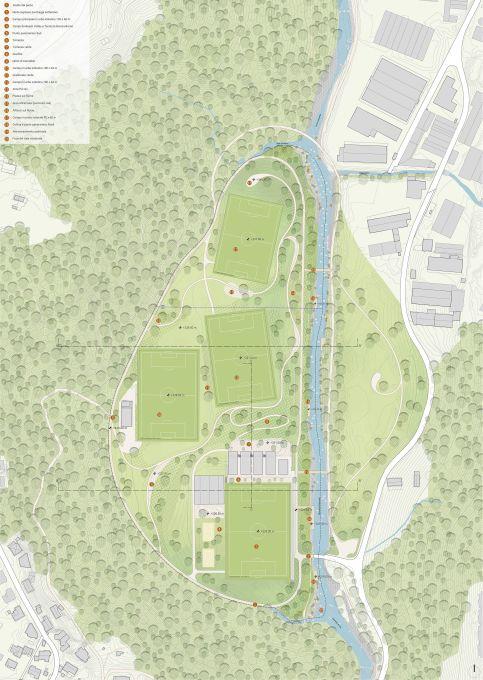 Parco dello Sport a Lugano, L'area di intervento (credits, Land Suisse)
