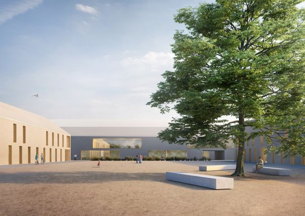 Render del progetto di SportLifeCity che dovrà sorgere a San Donato Milanese