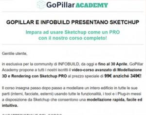Video-corso di modellazione 3D con Sketchup a 99€