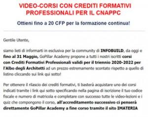 Corsi con crediti formativi per il CNAPPC da 99€