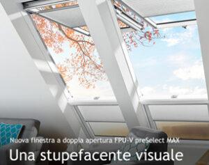 Nuova finestra a doppia apertura FPU-V preSelect MAX FAKRO