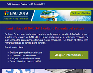 I temi chiave di BAU 2019 Monaco di Baviera 14-19/01