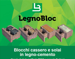 Legnobloc: blocchi cassero e solai in legno-cemento