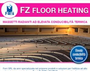 Sistemi radianti a pavimento ad elevata conducibilità termica