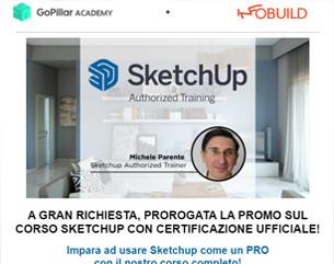 In Scadenza | Corso Sketchup a 109€