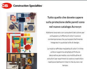 Nuove finiture decorative per le protezioni murali CS