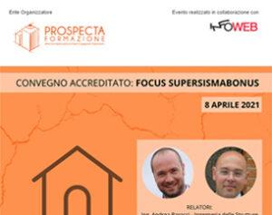 """Convegno accreditato """"Forum SuperSismaBonus"""""""