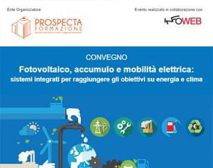 Convegno accreditato: Fotovoltaico, accumulo e mobilità elettrica