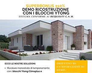 Superbonus 110%: demo-ricostruzione con i blocchi Ytong