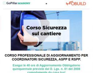 Corso Coordinatori Sicurezza, ASPP E RSPP a 99€