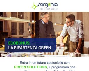 Scopri le soluzioni personalizzate di Sorgenia Green Solutions