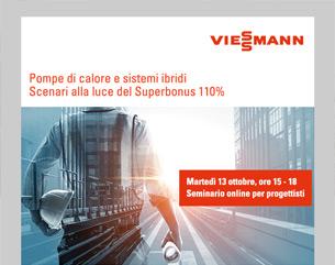 Seminario Viessmann: Superbonus per pompe di calore e sistemi ibridi