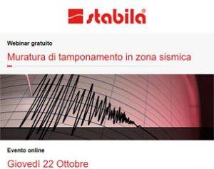 Webinar: Muratura di tamponamento in zona sismica