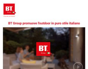 L'outdoor in puro stile italiano