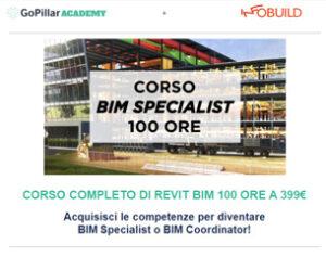 Corso Bim Specialist 100 ORE a 399€