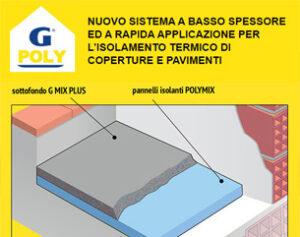 G POLY isolamento termico di coperture e pavimenti