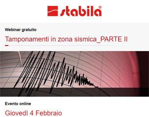Webinar: Tamponamenti in zona sismica